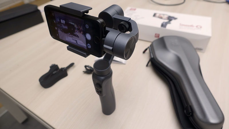 Photo du test du stabilisateur Zhiyun Smooth Q